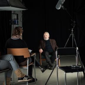 """""""Dizaino fondo interviu"""" su P. Garška 2017 m."""