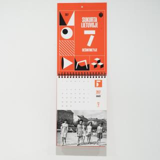 "2017 calendar ""Designed in Lithuania in 1960s"""